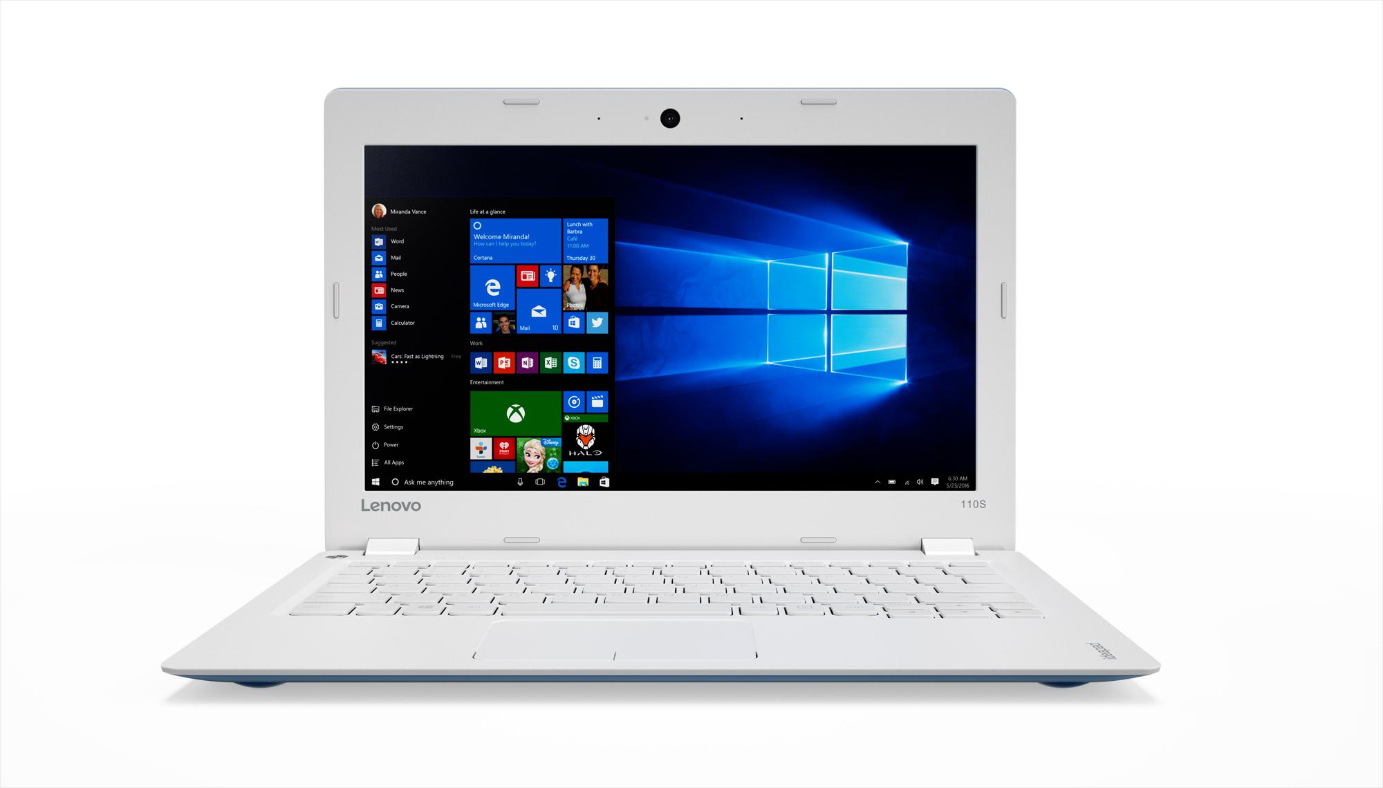 80WG008DCK Lenovo IdeaPad 110S 11.6 HD TN AG/N3060/32G EMMC/2G/INT/W10 modrý