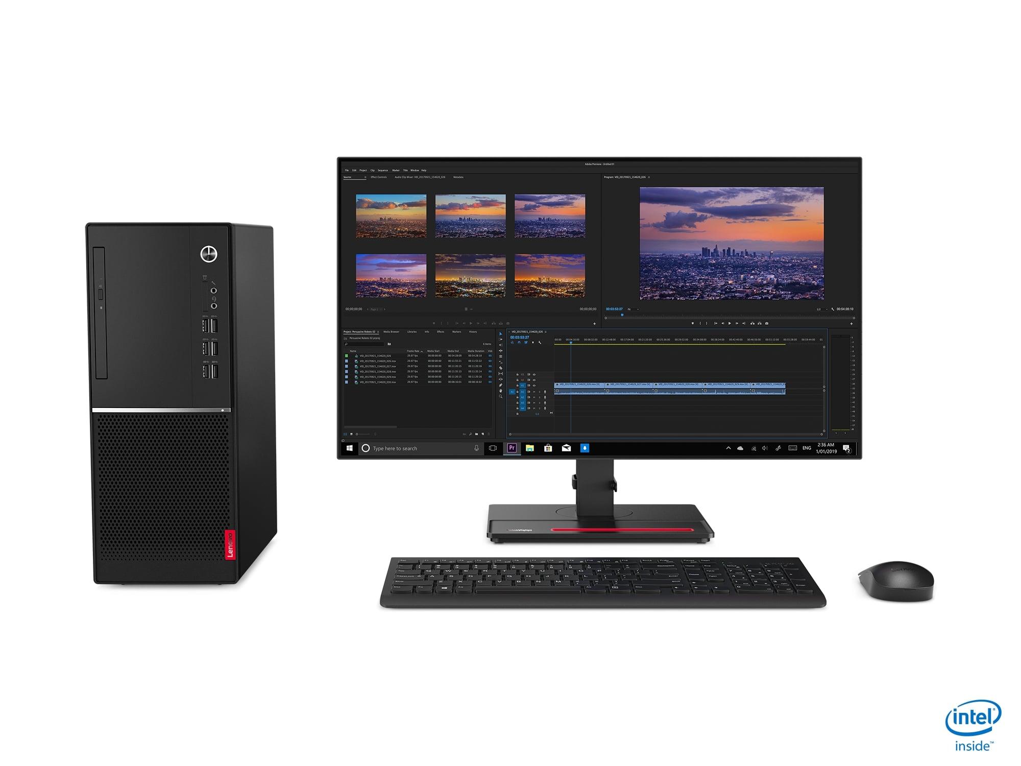 Lenovo V530 TWR/i3-9100/256/4GB/HD/DVD/DOS