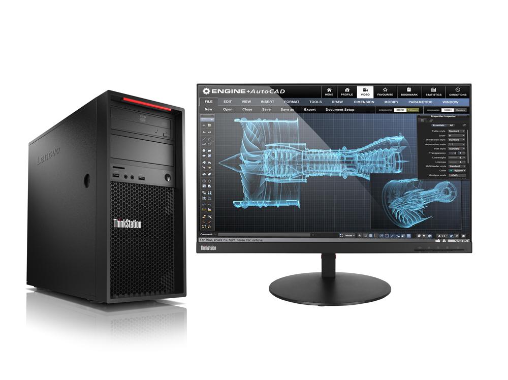 Lenovo ThinkStation P520c TWR/W-2125/16GB/256SSD/DVD/W10P + Sleva 75€ na bundle s monitorem!