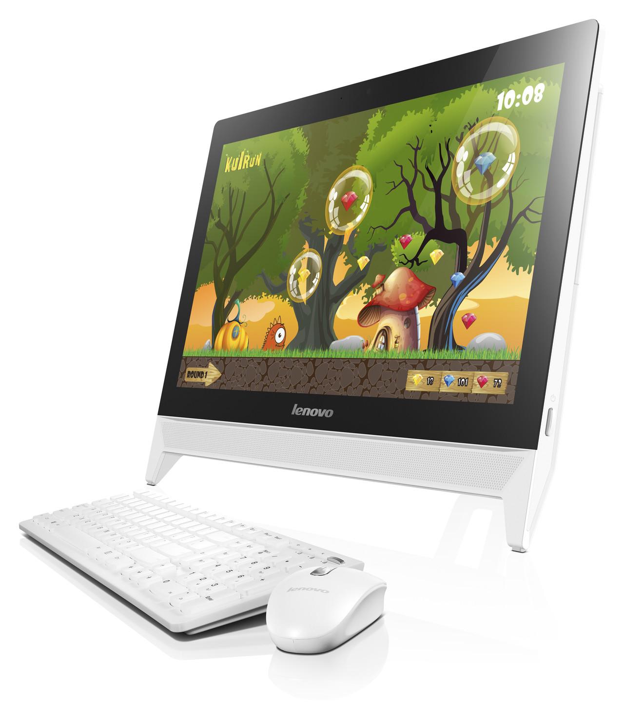 Lenovo IdeaCentre C20-00/N3050/1TB/4G/INT/DVDRW/Win 10 Bílý