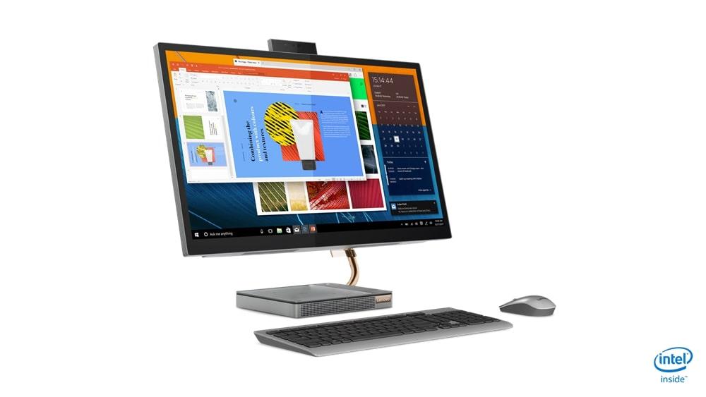 Lenovo AIO 5 27'QHD/i5-10400T/8G/512/INT/W10P šedý