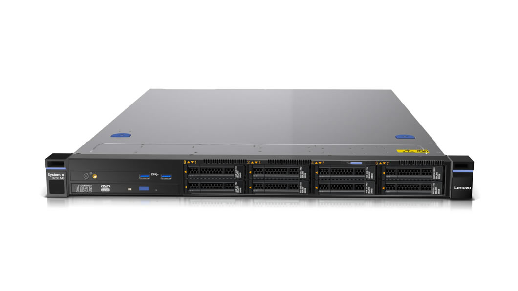 x3250 Rack/E3-1220v5/1x8GB/460W 80+ Gold/LFF
