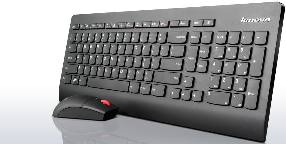 Lenovo Ultraslim bezdrátová klávesnice a myš US
