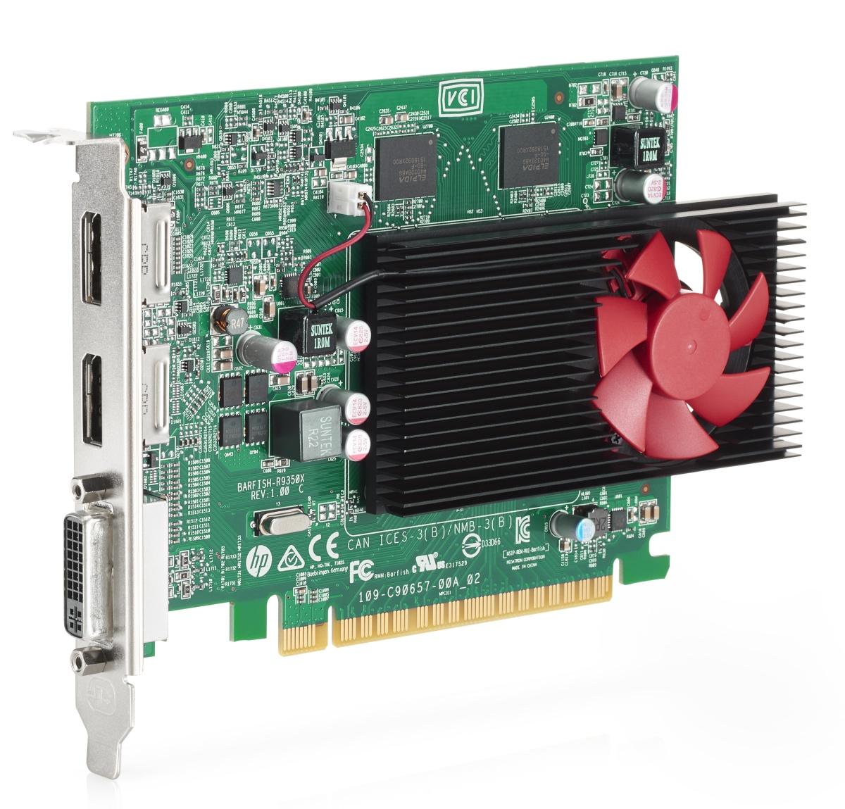 HP AMD Radeon R9 350 2GB DH PCIe x16 GFX