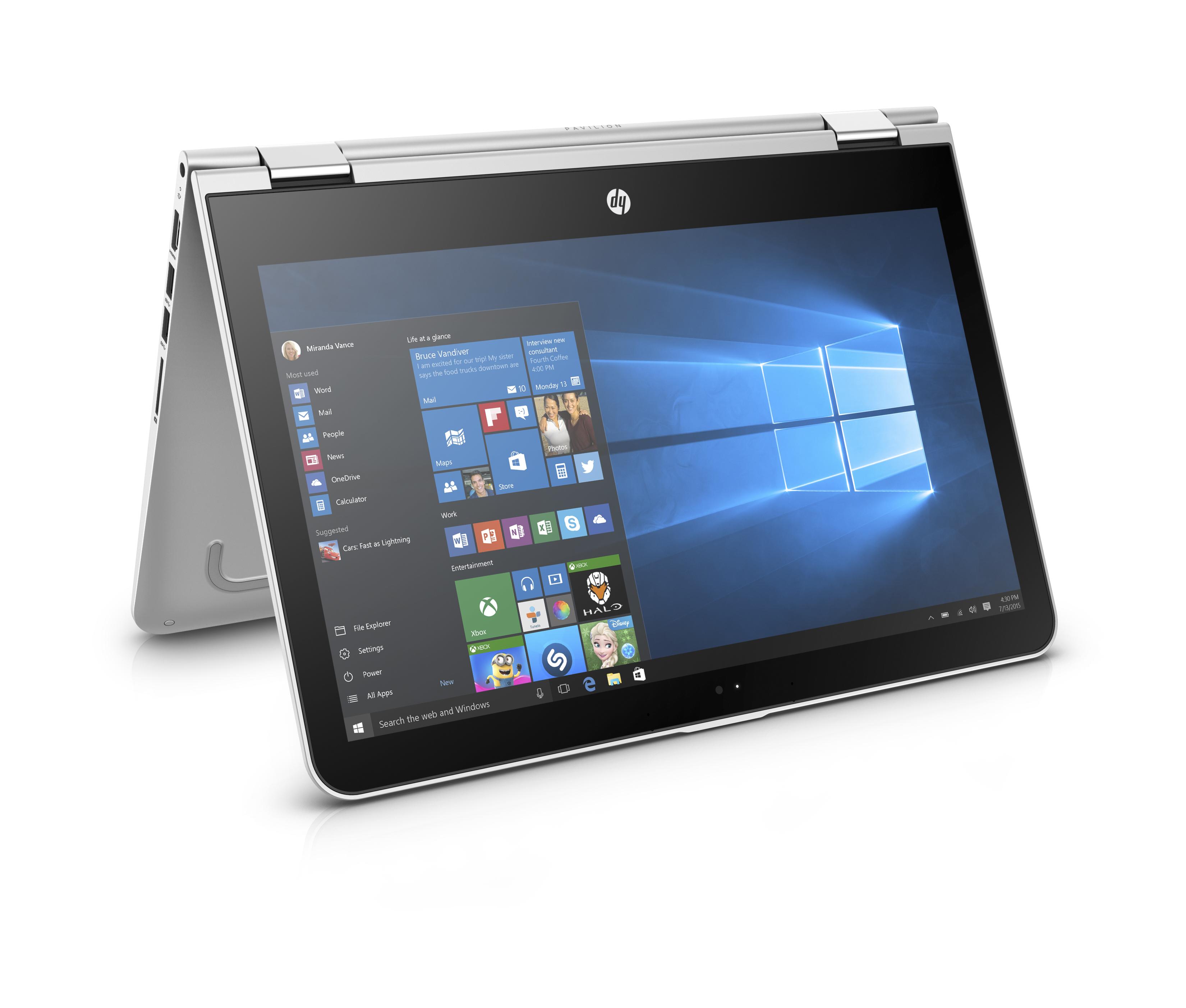 HP Pavilion x360 13-u004nc FHD i3-6100U/4GB/500GB+8GB/2RServis/W10-silver