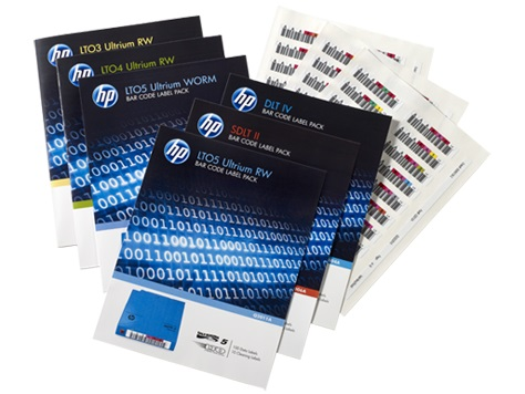 HPE LTO-7 Ultrium RW Bar Code Label Pack