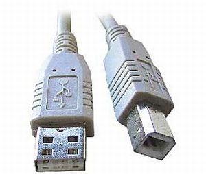 USB kabel typu AB, délka 2m
