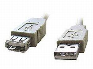 Kabel USB A-A 3m 2.0 prodlužovací HQ Black