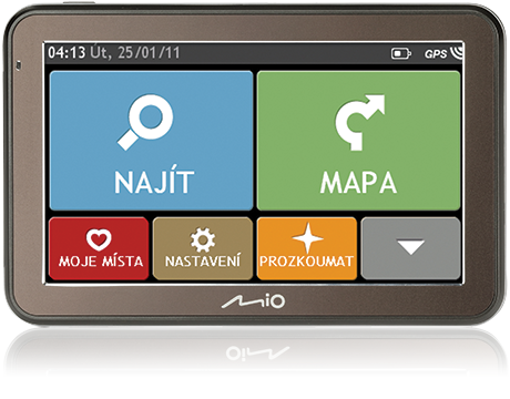 MIO Spirit 7500 GPS navigace, LCD 5