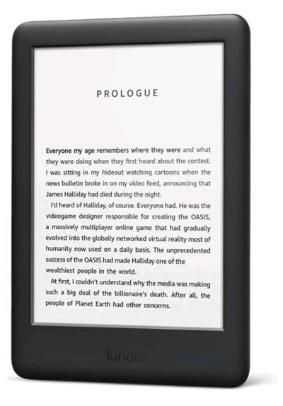 E-book AMAZON KINDLE TOUCH 2019, 6', 4GB E-ink podsvícený displej, WIFi, černý, SPONZOROVANÁ VERZE