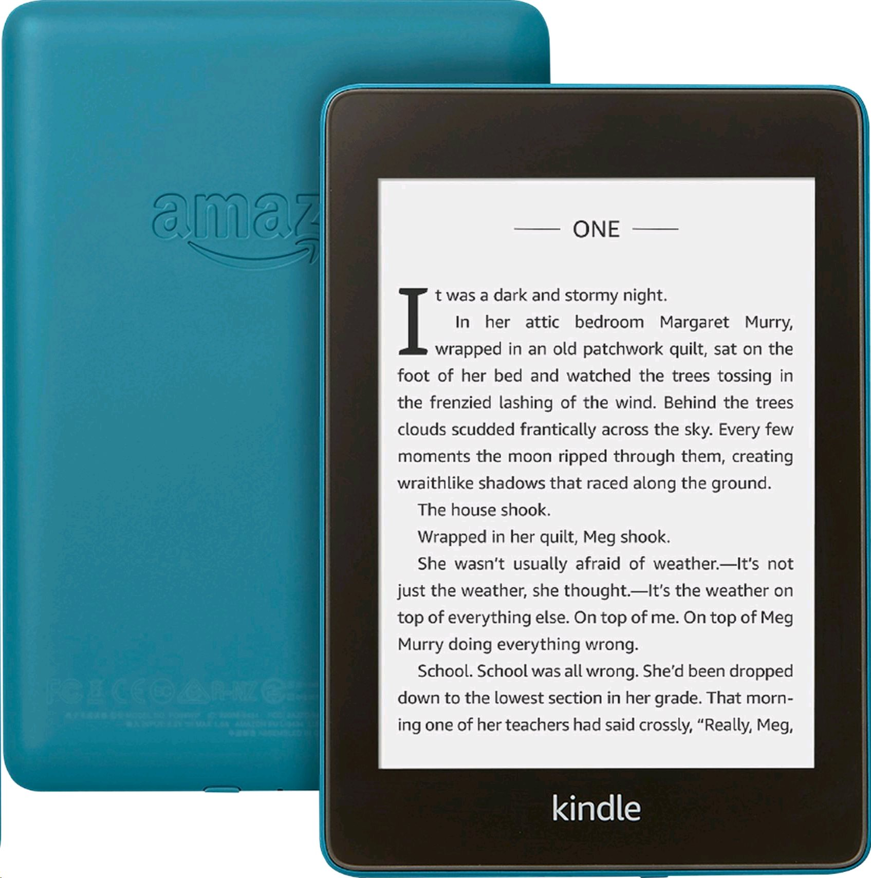 E-book AMAZON KINDLE PAPERWHITE 4 2018, 6' 8GB E-ink displej, WIFi, BLUE, SPONZOROVANÁ VERZE