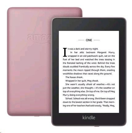 E-book AMAZON KINDLE PAPERWHITE 4 2018, 6'' 8GB E-ink displej, WIFi, PLUM, SPONZOROVANÁ VERZE -