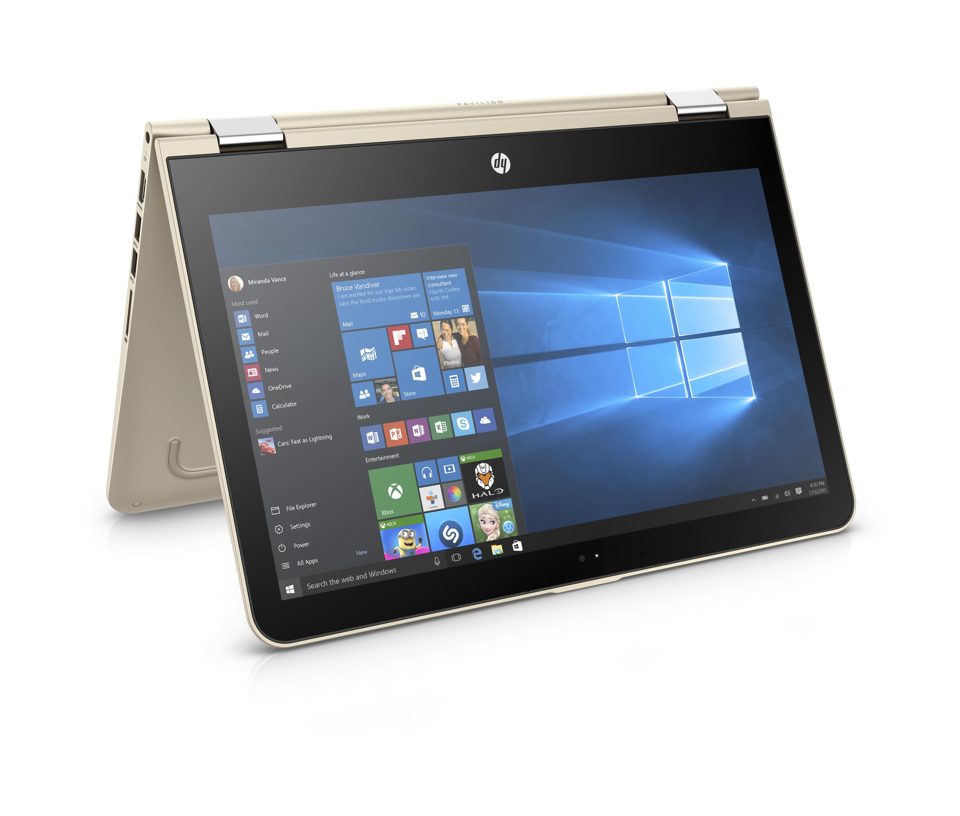 HP Pavilion x360 13-u002nc FHD i3-6100U/4GB/500GB+8GB/2RServis/W10-gold