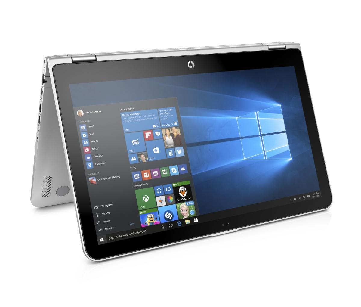 HP x360 15-bk004nc FHD i5-6200U/8GB/500GB+8GB/NV/2RServis/W10-silver